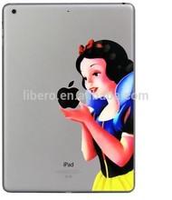Hot Selling New Style Cartoon Princess Snow White mermaid Clear TPU back cases for iPad Air 2 ipad air ipad mini