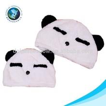 Lovely animal hat real fox fur hats cheap panda plush cap with earflap