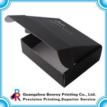 Wholesale custom printed corrugated black shipping boxes