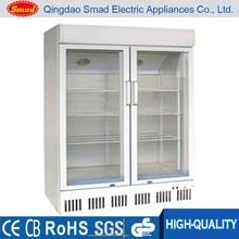 Porta in vetro congelatore verticale usato con ce, vetro interno/ruote/cestino/maniglia/blocco