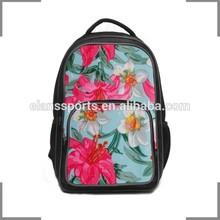 2014 KOSTON branding Flower-shaped pattern print design casual backpack KB094