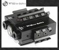 Vector óptica viperwolf 532nm tactical laser verde& 850nminvisívelinfravermelhoir laser designador mira combo caber visão noturna