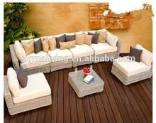 2015 Hot Sale New designed Bedroom Furniture 7 Piece Wicker Patio Sofa Modern Garden Sofa Sets