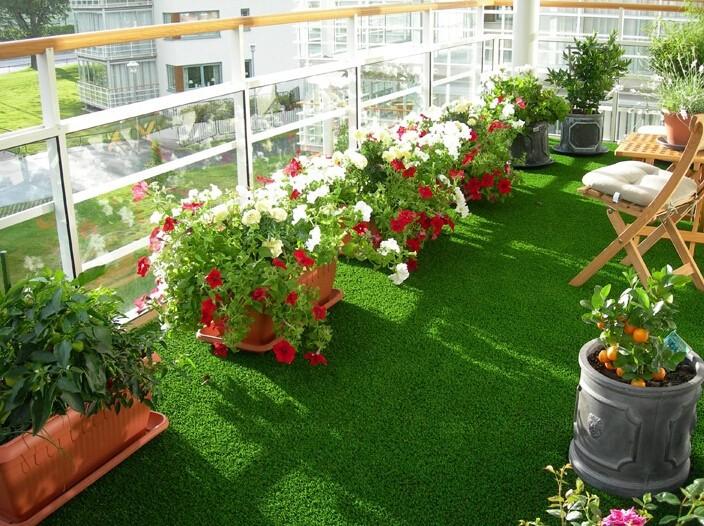 Balkon kunstgras tapijt gras andere tuinornamenten en for Balcony artificial grass