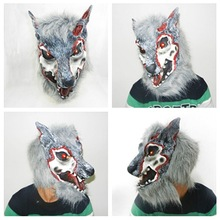 Latex Animal Realistic Wolf Head Mask