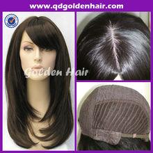 Top Quality Virgin Human Hair Dark Roots Wig Jewish Wig