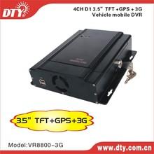 DTY VR8800-3G 4-ch 3g vehicle tracking google map gps mdvr