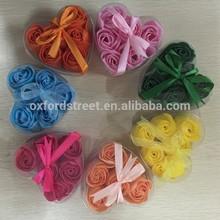 Valentine's day gift flower shape rose soap