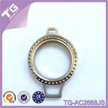 Large 30mm round magnetic glass floating charm lanyard necklace locket