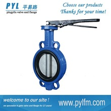 Wafer Type Rubber Lined Iron Body Handle Butterfly Valve (D71X)