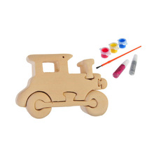 3D wooden craft puzzle locomotive