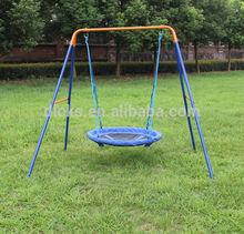 DKS Metal ourdoor nest swing sets for adult, rope swing height adjustable