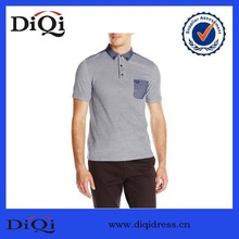 China Supplier for Men Oxford Trim Polo Shirt with Pocket Front