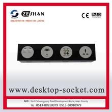 ZeShan BGJD-4W-02 Black Multimedia Controlling Panel with Universal power for top-grade hotel