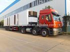 3 axles ice cream truck body /Refrigerator Freezer Cargo Van/Freezer Trailer for sale