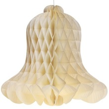 Ivory Paper Honeycomb Bell Decoration 30CM