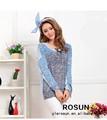 yeni bahar ve yaz şeker renk eşleştirme kollu kazak moda kazak