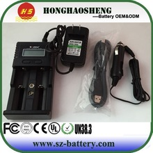 LCD display cheap dual battery charger soshine h2 car charger