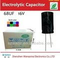 Lista de dispositivos electrónicos 68 uf 16 v condensadores de aluminio