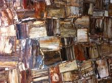 Natural Gemstone Polished Petrified wood onyx wine glass for decoration