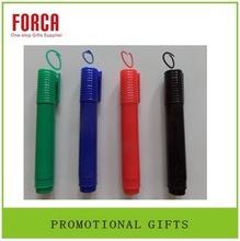 2015 promotional multi color marking plastic red pen fun pen