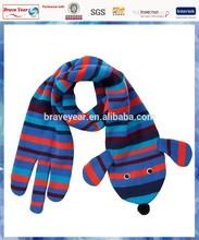 Sausage Dog knit kids animal scarf /dog scarf pattern /animal shaped scarf