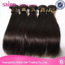 Natural hair extension women's hair 100% brazilian silky straight wave hair