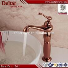 Rose Golden Faucet Single Handle, Bathroom High Water Faucet, Outdoor Oil Rubbed Bronze Faucet