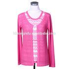 Pink beautiful women's 100% cashmere sweater