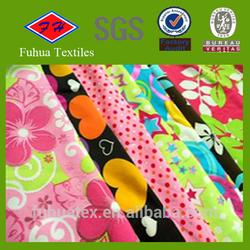 four way side stretch printed polyester/spandex swimwear fabric