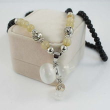 Fashion baby necklace with natural stone