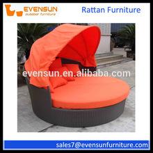 Outdoor Furniture-Rattan Round Bed