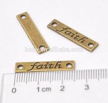 wholesale decorative word bracelet charm