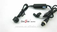 "16*16mm 1/3"" Sony CCD, 420TVL pinhole hidden car mini camera With Din jack connector female&Microphone"