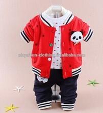 100% cotone bambino orso dei cartoni animati tre pezzi vestiti abbigliamento sportivo vendita calda