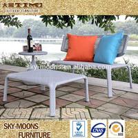 all weather rattan wicker twin beach chair(L005)
