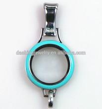 stainless steel lanyard floating charm locket