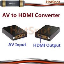 Mini AV CVBS RCA to HDMI Video Converter Adapter 720p 1080p Upscaler / AV converter to hdmi
