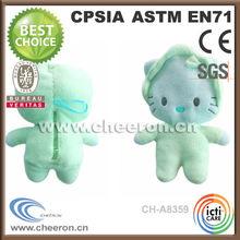 Eco-friendly stuffed cat animal shape plush bottle coat