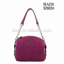 China Guangzhou branded handbags in cheap price wholesale custom metal logo handbag