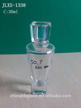 30ml clear glass perfume bottle cute style galss bottle for girl