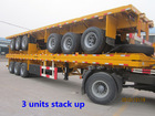 container carrier! 3 axle 40 ft used container truck