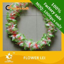 18 flowers bouquet Hawaiian flower lei, leis fabric plumeria & bouquet