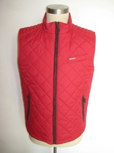 men's quilted vest 2015 new design red color