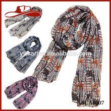 Fashion Printing Design Viscose Fashion Lady Scarf Rayon Shawl