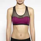 86% nylon14% spandex dry fit mesh panel wholesale ladies sports bra
