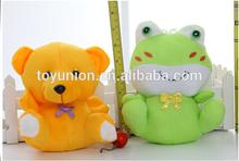 Sapo e urso de pelúcia barato Animal Plush Teddy Bear com roupas