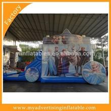 Frozen Bouncy Castle with Slide Combo, 5in1 Frozen Bouncy Slide Combo
