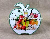 Apple shape ceramic clock,ceramic wall clock,ceramic table clock