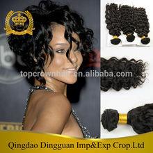 QingDao Top Crown Aliexpress Hair Weave designer classical synthetic hair european deep wave